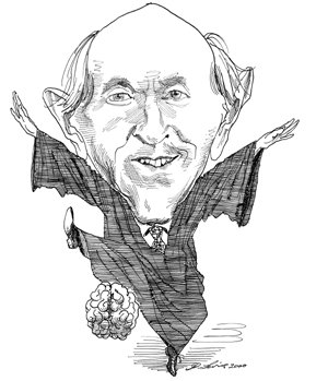 Sketch of Judge Richard Posner by the late David Levine