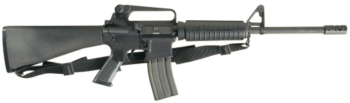 .223 caliber Bushmaster assault rifle