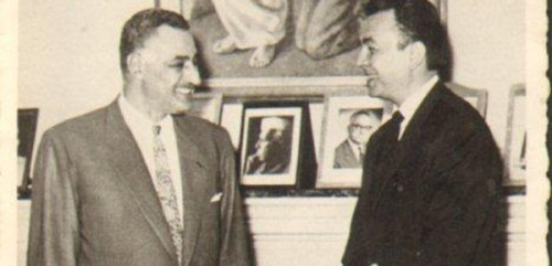 Gamal Abdel Nasser and Eric Rouleau, 1963