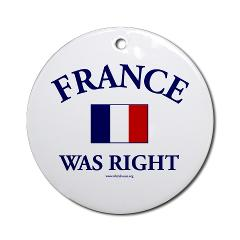 france_was_right_ornament_round
