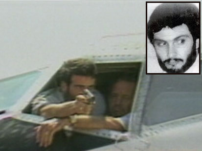 Imad Mughniyeh in the cockpit of TWA flight 847, June 1985
