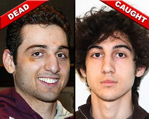 Tamerlan Tsarnaev and Dzhokhar Tsarnaev  (Photos: Julia Malakie/The Lowell Sun via AP; FBI via AFP/Getty Images)