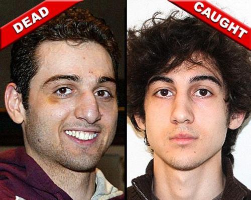 Tamerlan Tsarnaev and Dzhokhar Tsarnaev  (Photos: Julia Malakie/The Lowell Sun via AP; FBI via AFP/Getty Images)