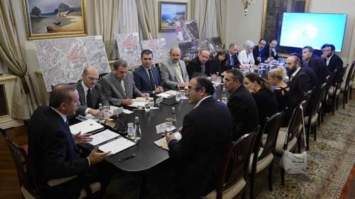 PM Erdoğan meeting with representatives of the Taksim Solidarity Platform Ankara, June 13 2013 (photo: aksam.com.tr)