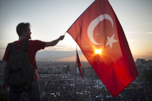 Taksim Square, Istanbul, June 3 2013 (Photo: Uriel Sinai/Getty Images)