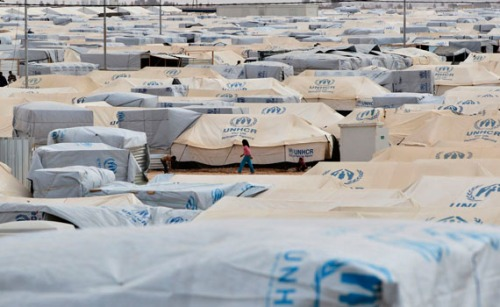 Al Zaatri refugee camp, Mafraq, Jordan, February 25 2013 (Muhammed Hamed/Reuters)