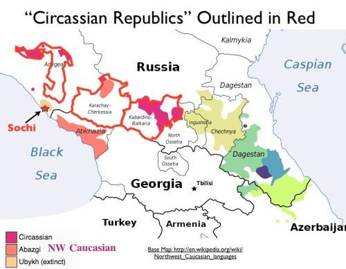 Circassian-Republics-Map