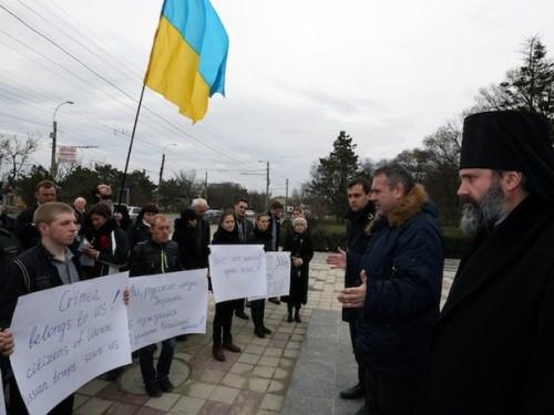 Anti-Russian demonstration, Simferopol, March 2 2014  (Photo: Sergei L. Loiko/Los Angeles Times/MCT)