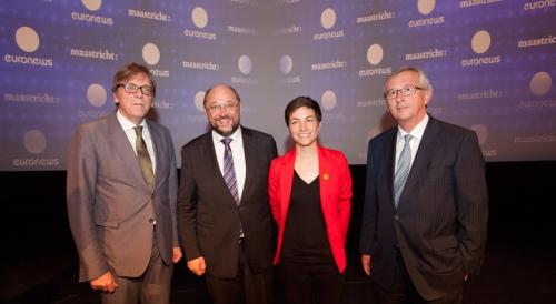 Guy Verhofstadt, Martin Schulz, Ska Keller, Jean-Claude Juncker