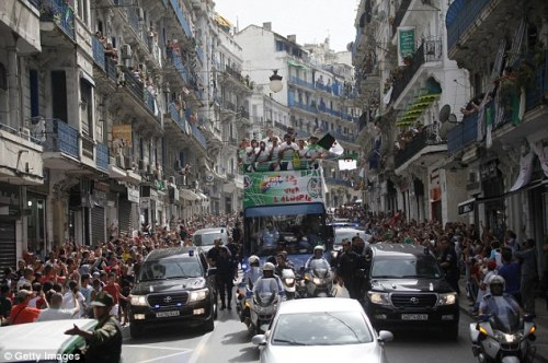Algerian national team homecoming, Algiers, July 2 2014 (Photo: Getty Images)