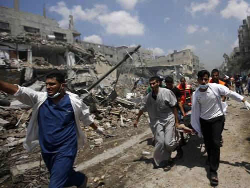 Shuja'iyya, Gaza, July 20 2014 (photo: EPA/Mohammed Saber)