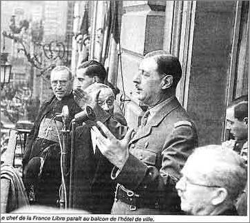 de gaulle hotel de ville 25 aout 1944