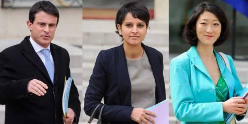 Manuel Valls, Najat Vallaud-Belkacem, Fleur Pellerin (photos: MaxPPP)