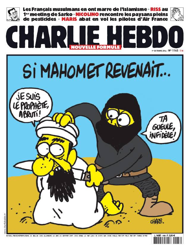 Voilà the cover of the latest issue of Charlie Hebdo, which will hit ...
