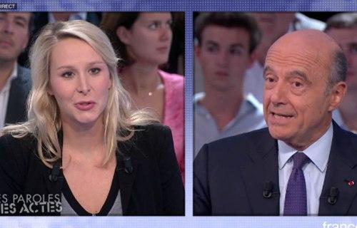 Marion Maréchal-Le Pen & Alain Juppé, France 2/Des Paroles et des Actes, October 2nd