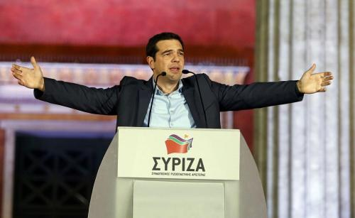 Alexis Tsipras, Athens, January 25th (Photo: Reuters/Marko Djurica)