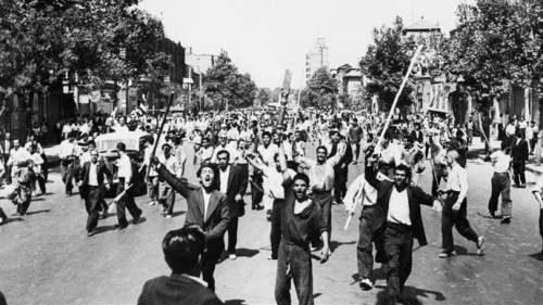 Pro-Shah demonstration, Tehran, August 26 1953 (photo: AFP)