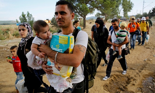 Syrian refugees in Greece near the border with Macedonia (Photo: Yannis Behrakis/Reuters)