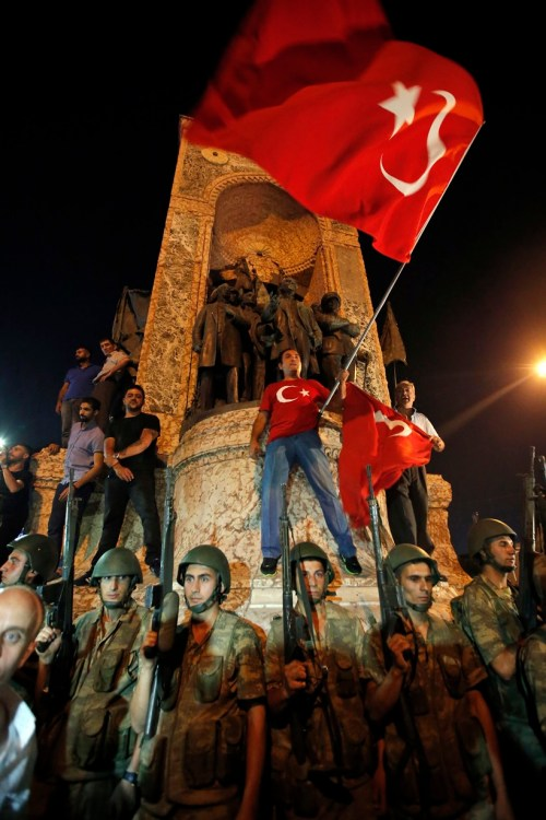 Taksim Square, Istanbul, July 16th (Photo: AP/Emrah Gurel)