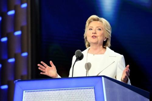 Hillary Clinton_DNC_July 28 2016_Ali Shaker Voice of America_via Wikimedia Commons