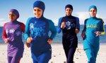 Women in burkinis on Cronulla Beach SydneyAustralia