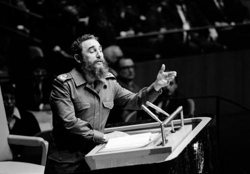 Addressing the U.N. General Assembly, 13 October 1979 (UN Photo/Yutaka Nagata)
